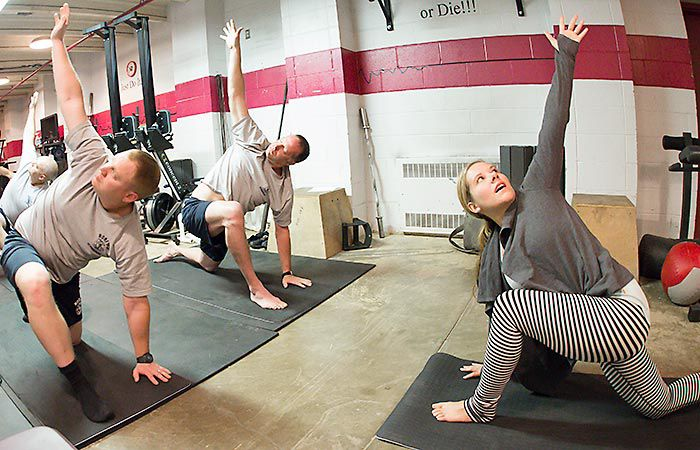Norfolk Firefighters Find Yoga Classes Beneficial News Norfolkdailynews Com