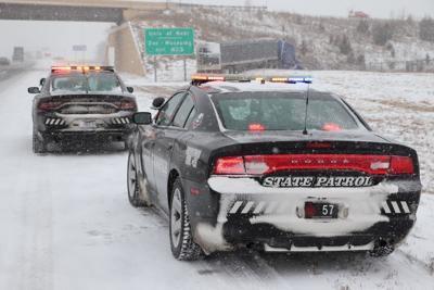 Nebraska State Patrol Cruiser in Snow