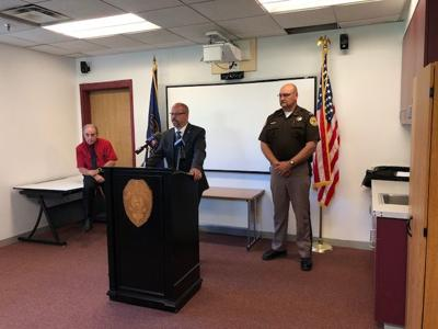 Norfolk Police Captain Mike Bauer, Madison County Sheriff Todd Volk, and Madison County Attorney Joe Smith provided an update on the situation with 47-year-old Cory Dittman of Norfolk.