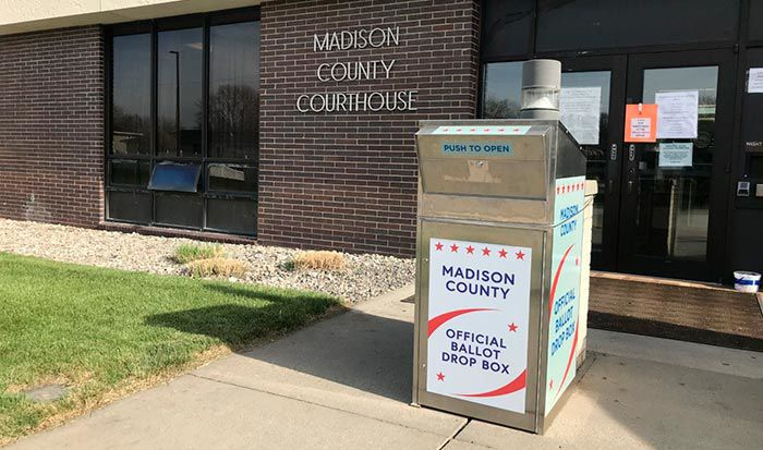 Voting drop box