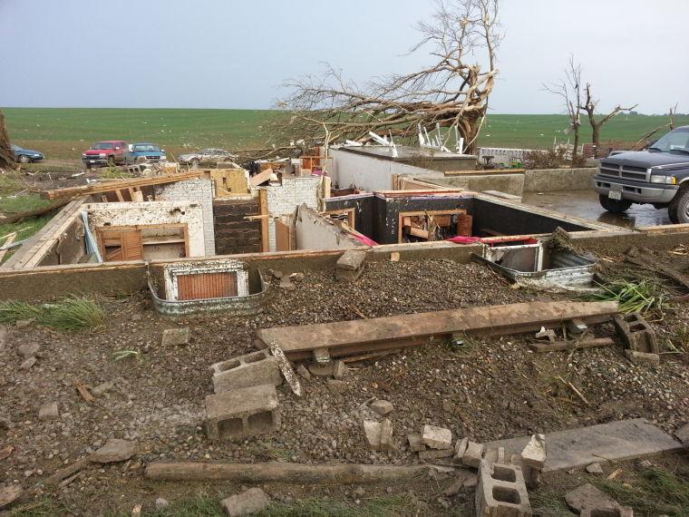 Home leveled near Wisner