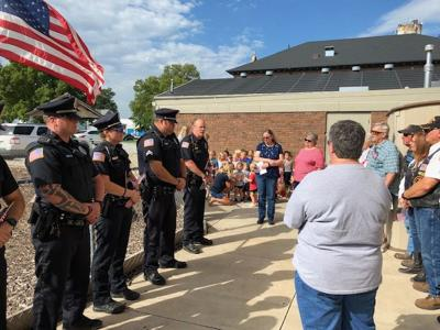 Patriot Day ceremony at the Wesley Center