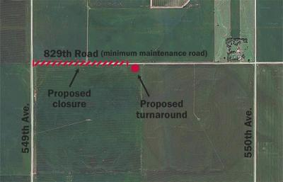 929th Road between 549th Avenue and 550th Avenue