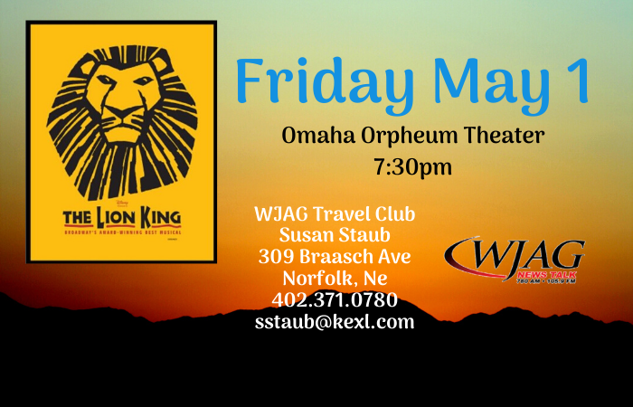 Travel Club- Lion King May 1