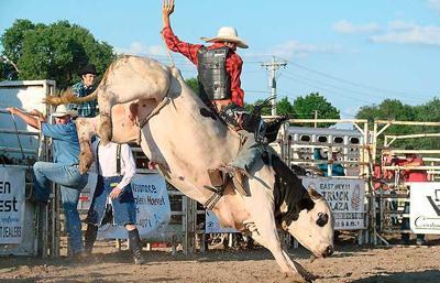 Bull riding at Wayne County Fair