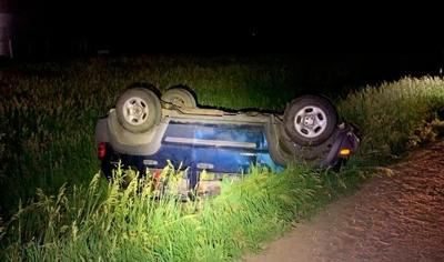 Rollover accident with teens