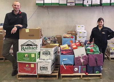 Food service staff donations
