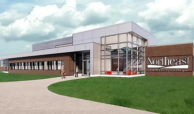 Northeast vet tech clinic rendering