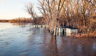 Flooded cabins