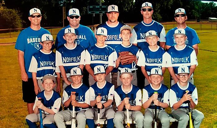 Norfolk Steel 10U baseball team