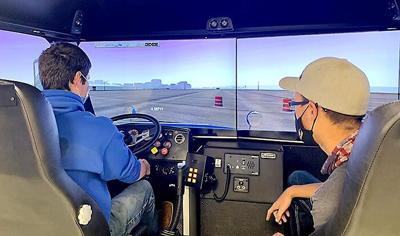 Semi driving simulator