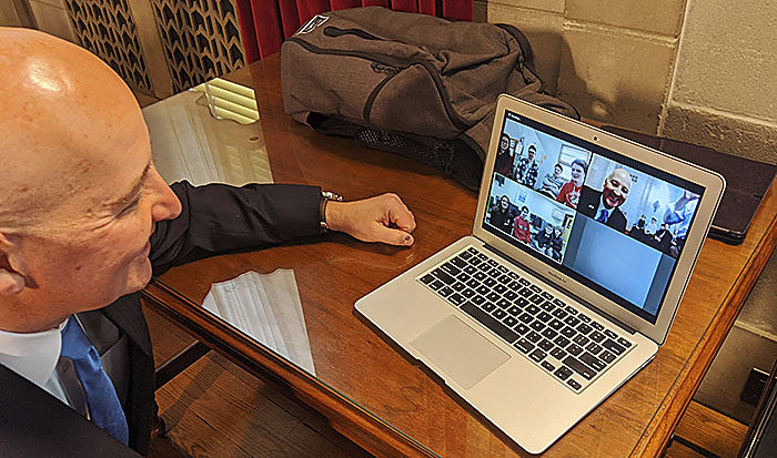 Ricketts video calls students