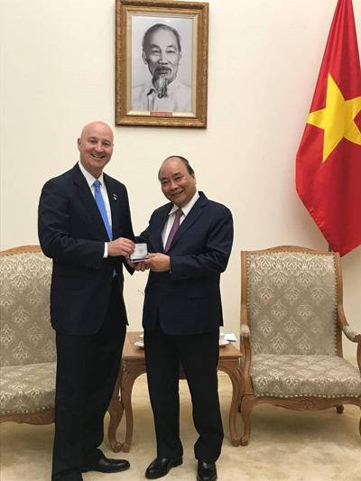 Gov. Ricketts Meets with Prime Minister Phuc of Vietnam
