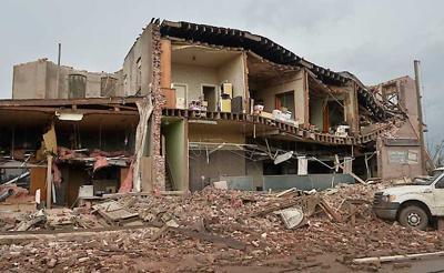 Buildings destroyed