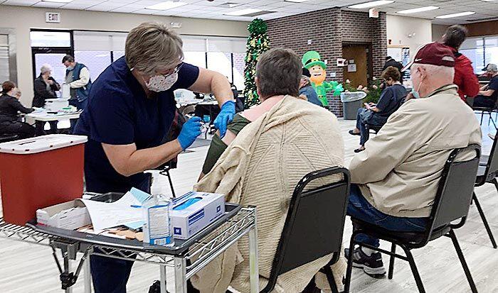 Vaccines at senior center