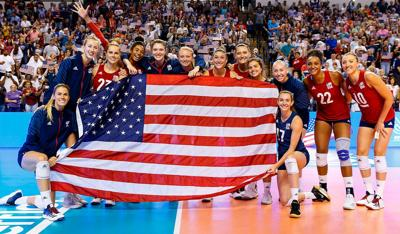 U.S.A Olympic volleyball team