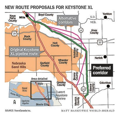 New proposed Keystone XL pipeline route unveiled | News ... on bakken pipeline map, ogallala aquifer map, north american pipeline map, nexus gas transmission pipeline map, alaska pipeline map, enbridge pipeline map, keystone pipeline map us, et rover pipeline map, sandpiper pipeline map, barack obama map, northern gateway pipeline map, keystone pipeline contractors, keystone pipeline project, middle east map, new keystone pipeline revised map, petroleum pipeline map, strategic relocation north american map, arctic pipeline map, ohio pipeline map, keystone pipeline map ok,