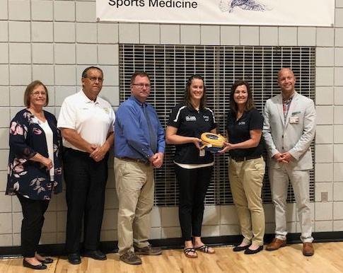 Faith Regional provides lifesaving machine to local school
