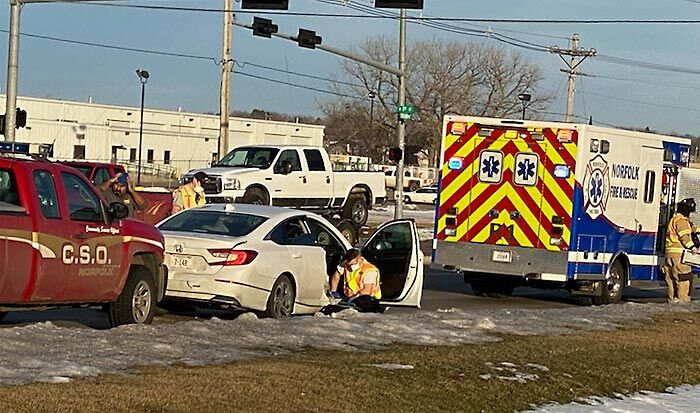 Two transported to hospital