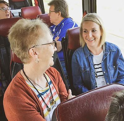 Local community builders bus tour