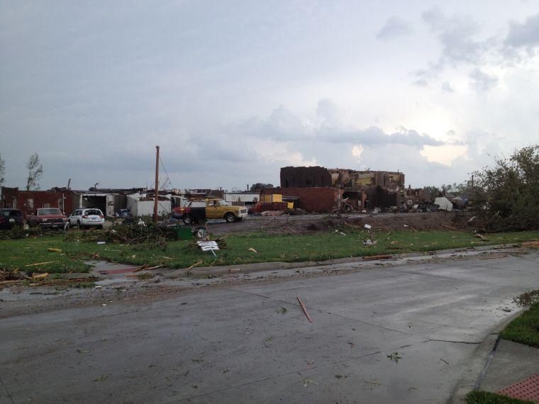 Tornado damage in Pilger
