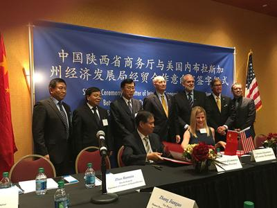 Ricketts in China for Trade Mission