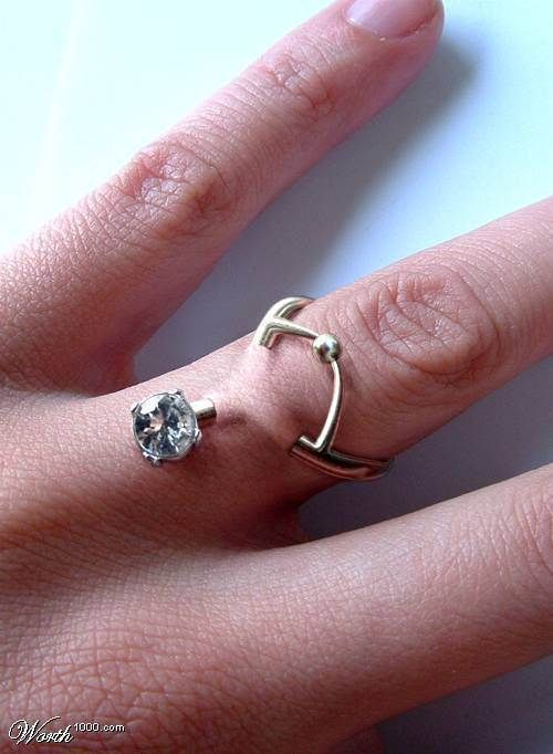 Couples are swapping wedding rings for pierced fingers in bizarre finger piercings junglespirit