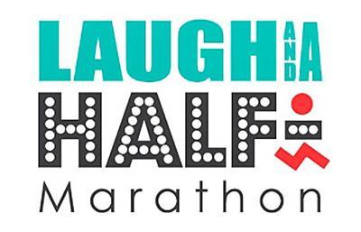 Laugh and a Half Marathon logo