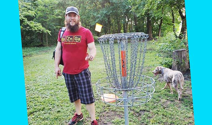 Disc golf hole-in-one