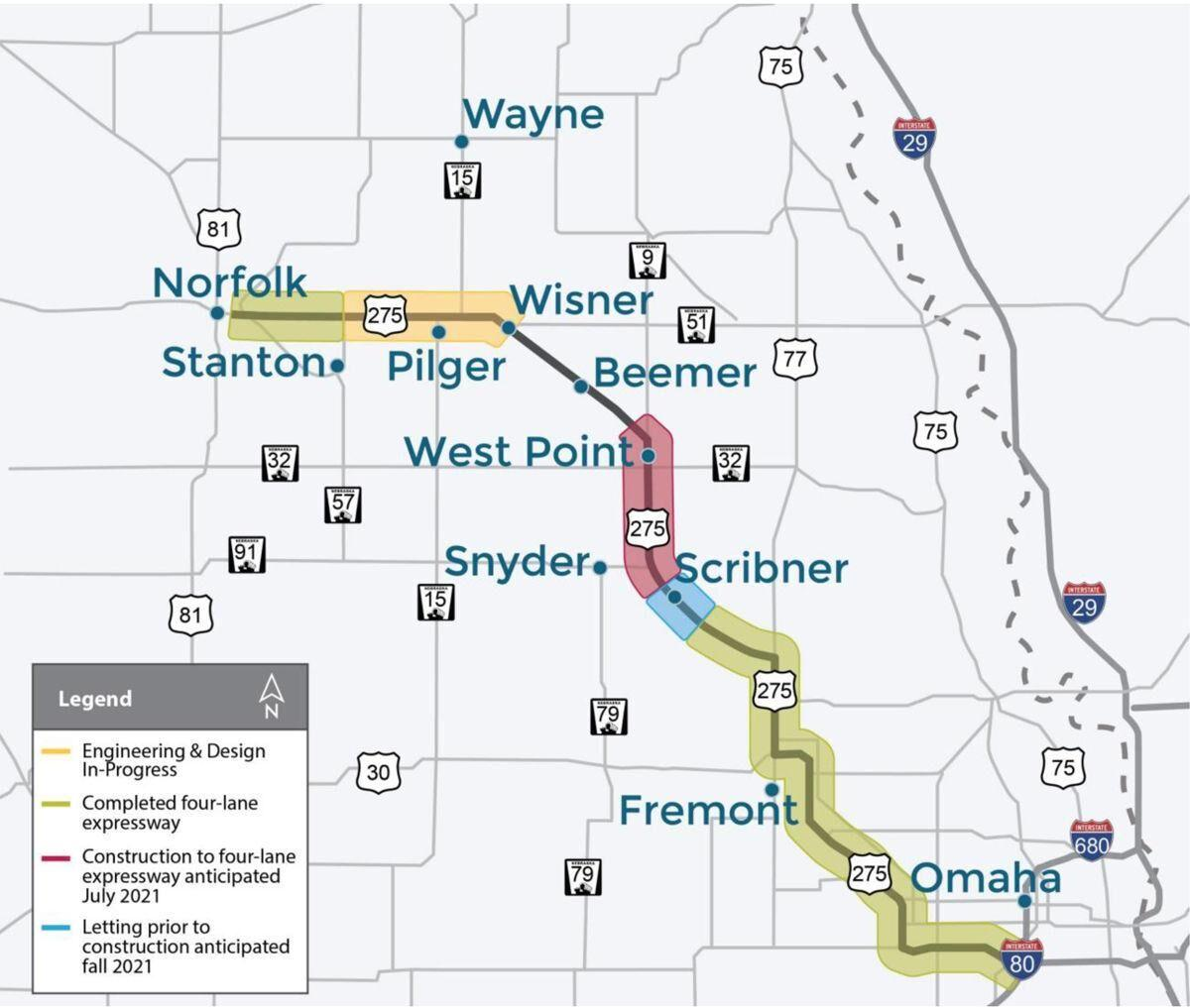 Map of 275 Expressway Project
