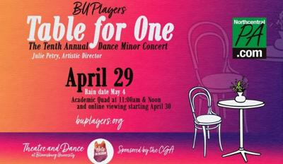 table for one bloomsburg dance show april 2021