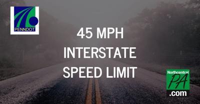 45 mph interstate speed limit 2020