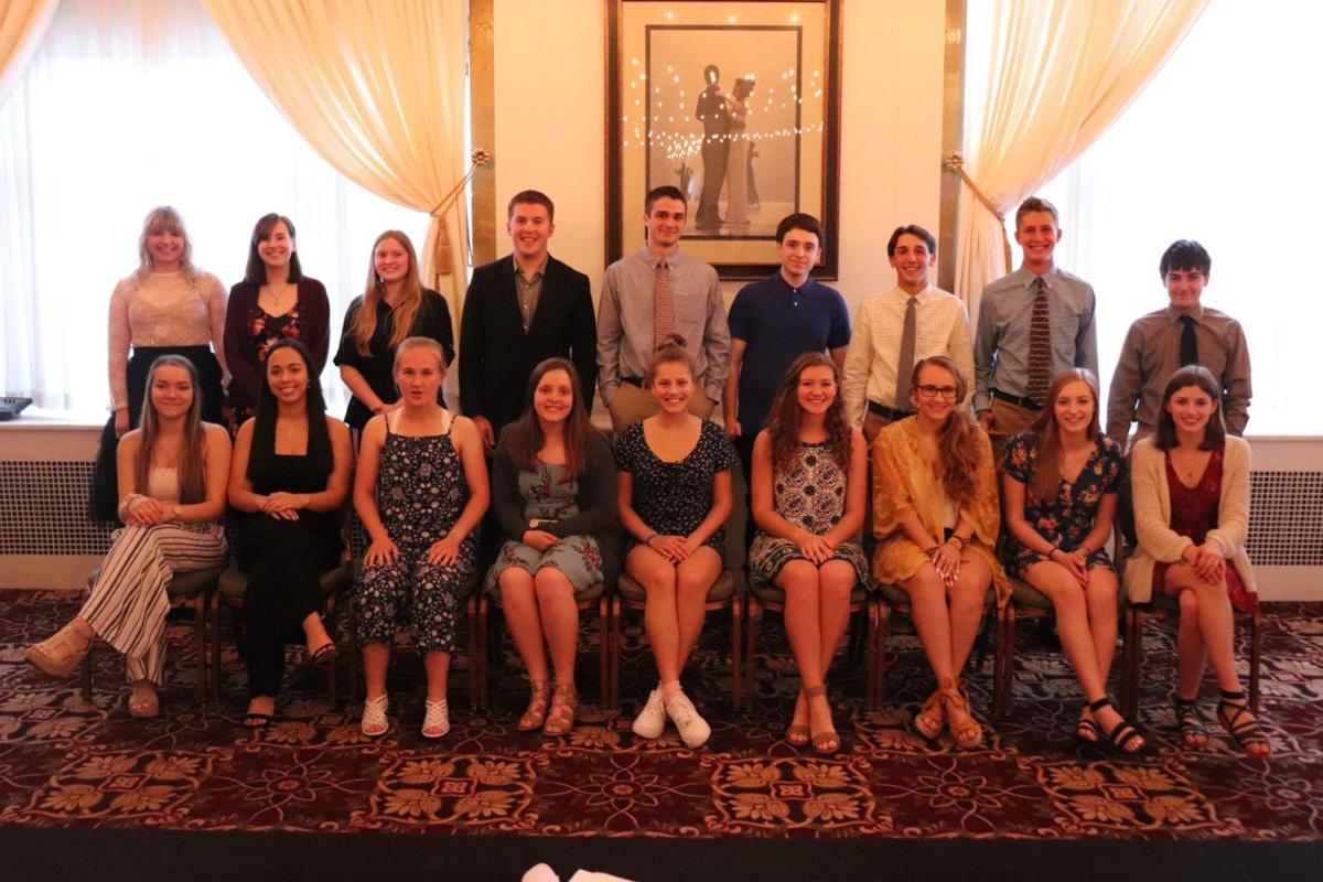 WAHS top hat dinner 2019 - students