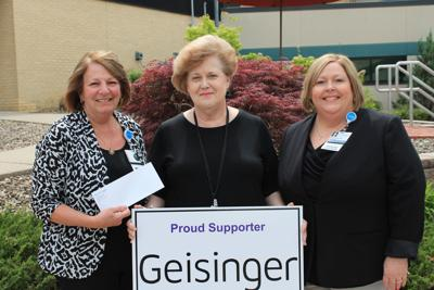Geisinger Jersey Shore Relay for Life donation - photo