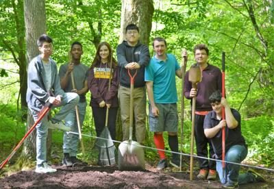 Camp Susque - photo of New Covenant students spring cleaning day