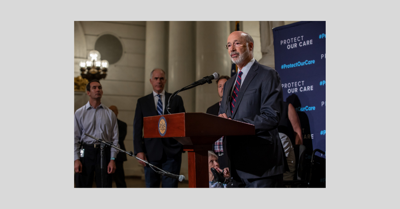 Gov  Wolf, Sen  Casey rally for Affordable Care Act at
