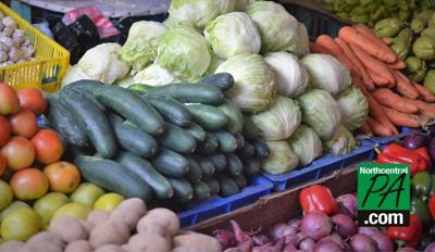 farm stand vegetables stock photo