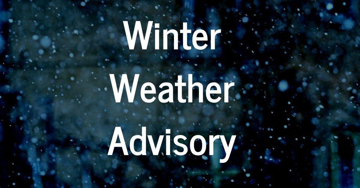 Winter weather advisory winter 2019-2020