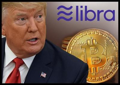 Trump 'Not A Fan' Of Bitcoin; Against Libra
