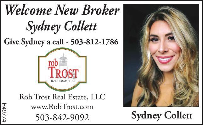 New Broker at Rob Trost Real Estate  Sydney Collett 110420