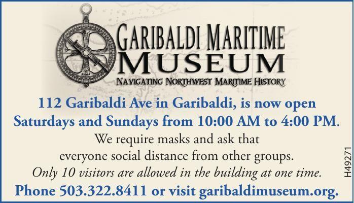 Now Open - Garibaldi Museum 070820