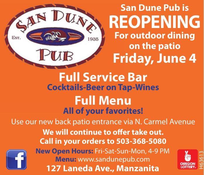 Opening June 4-Manzanita San Dune  Pub Patio Seating 2x3 060321