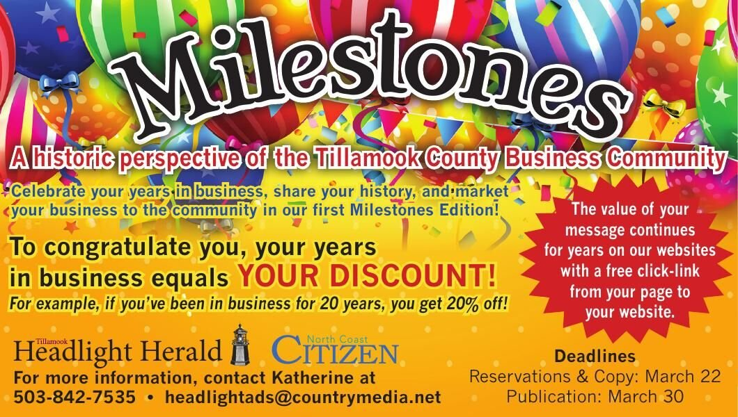 Celebrate Your Business Anniversary in the 2021 Milestones publication this March