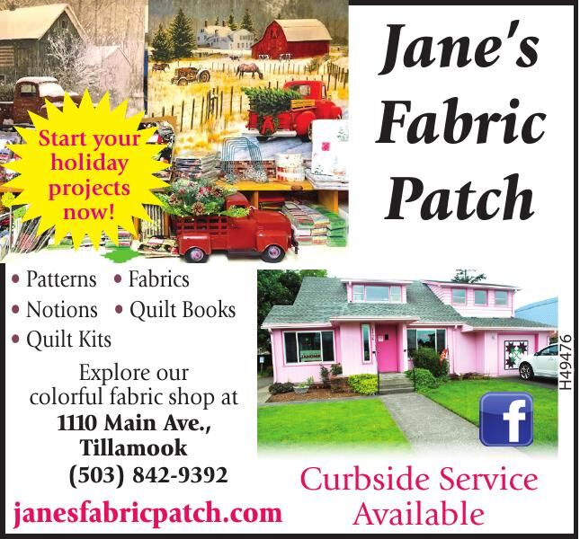 Janes Fabric Patch Holiday Projects 2020