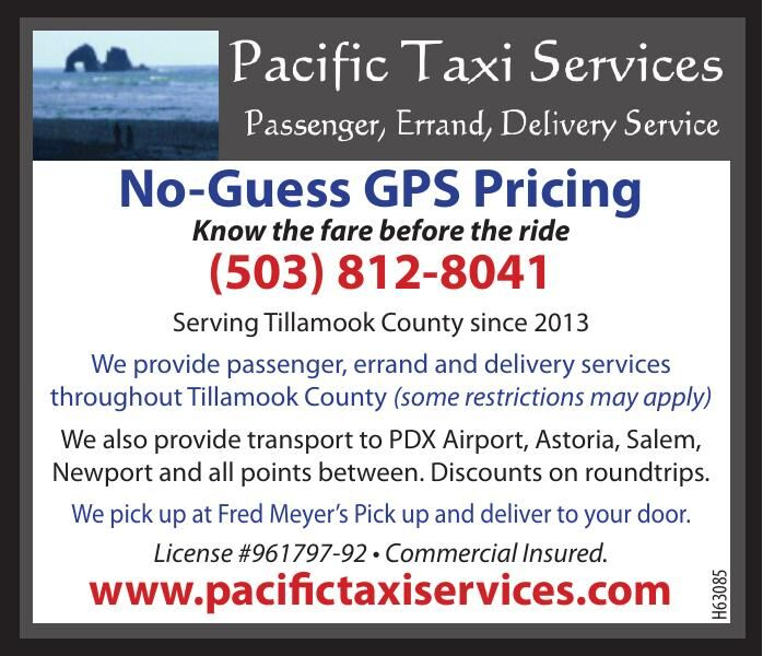 Pacific Taxi Services Tillamook County, OR 022321