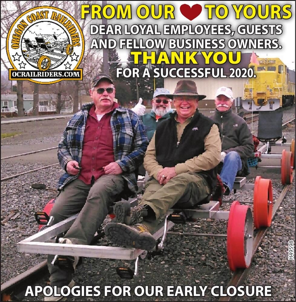 From Our Heart to Yours Oregon Coast RailRiders 093020