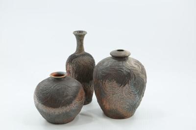 Anagama-fired ceramics