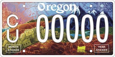 Oregon Cultural Trust license plate