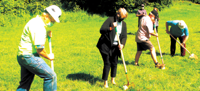NCRD breaks ground for new pickleball courts