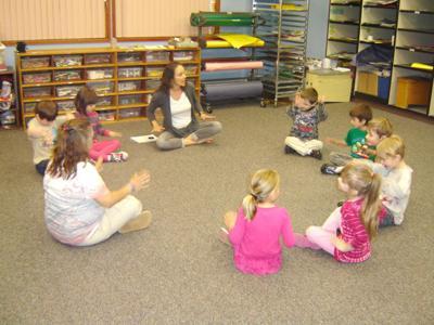 Nehalem Grade School kindergarteners enjoy music class